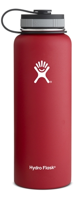 Hydro Flask 40oz Wide Mouth Bottle - Red