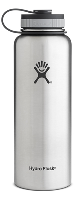 Hydro Flask 40oz Wide Mouth Bottle - Stainless