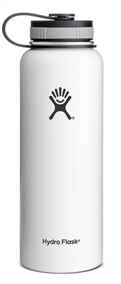 Hydro Flask 40oz Wide Mouth Bottle - White