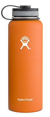 Hydro Flask 40oz Wide Mouth Bottle - Orange
