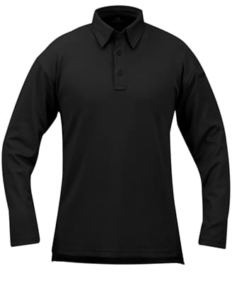 Picture of I.C.E. (Integrated Cooling Effect) Long Sleeved Polo - Black - Extra Small Regular